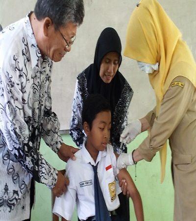 Kegiatan Imunisasi Depteri SMP N 2 Wungu